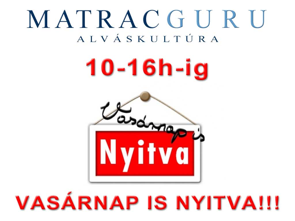Matracguru matrac üzlet vasárnap is nyitva