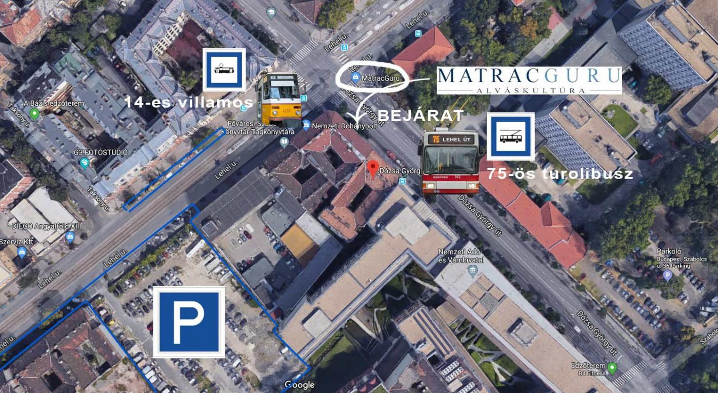 Matracguru matrac üzlet térkép